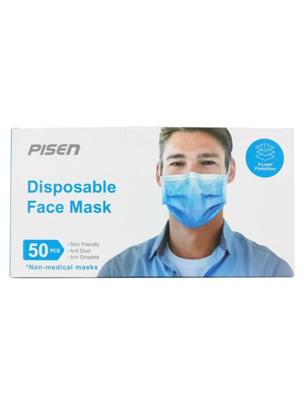 Disposable face mask, 50 pack 1