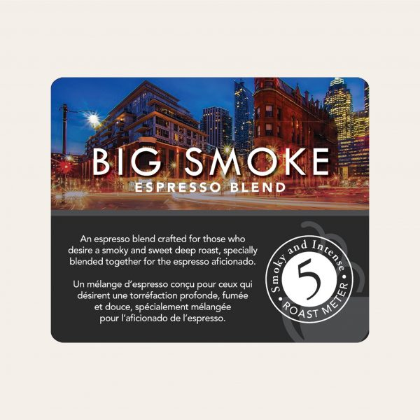 Big smoke espresso ground coffee, 800g 2