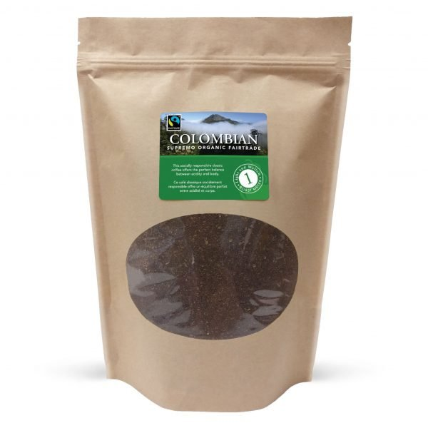 Colombian fairtrade ground coffee, 1lb 1