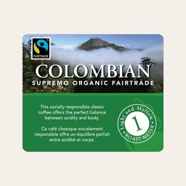 Colombian fairtrade ground coffee, 1lb 2