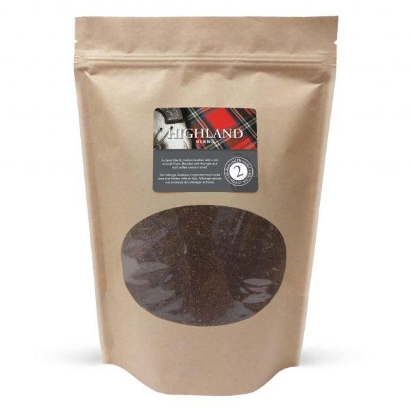 Highland blend ground coffee, 1lb 1