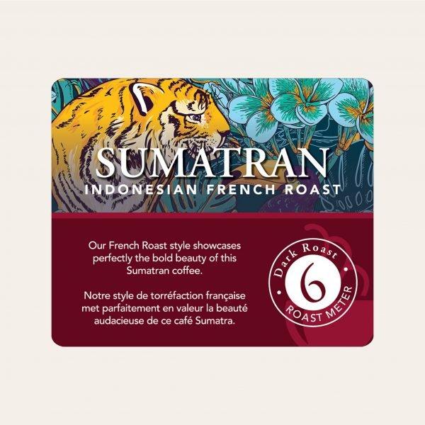 Sumatran whole bean coffee, 1lb 2