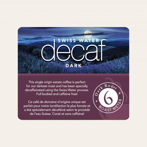 Swiss water decaf dark whole bean coffee, 1lb 2
