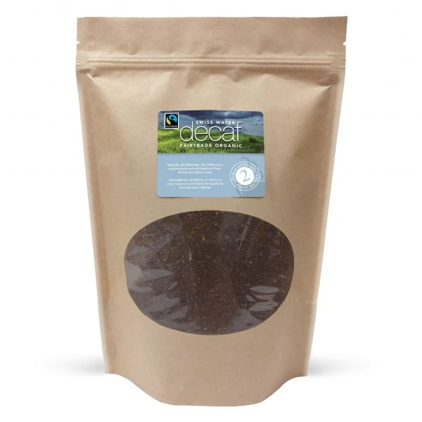 Swiss water decaf fairtrade ground coffee, 1lb 1