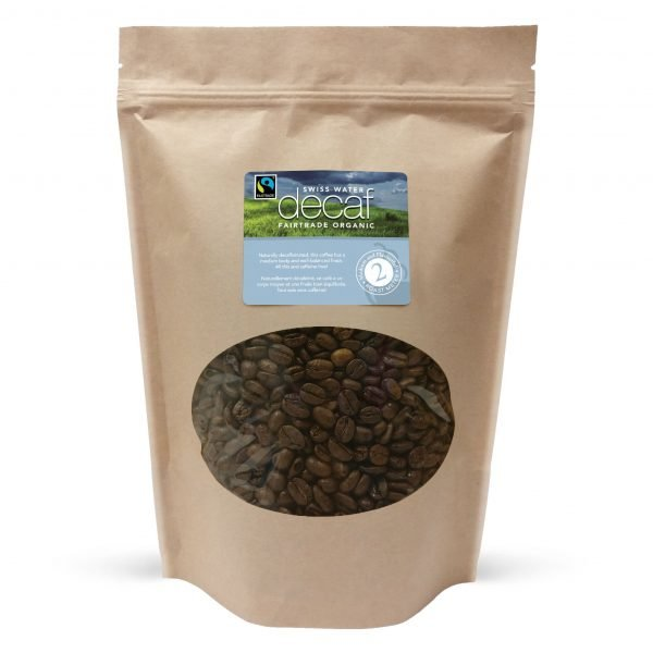 Swiss water decaf fairtrade whole bean coffee, 1lb 1