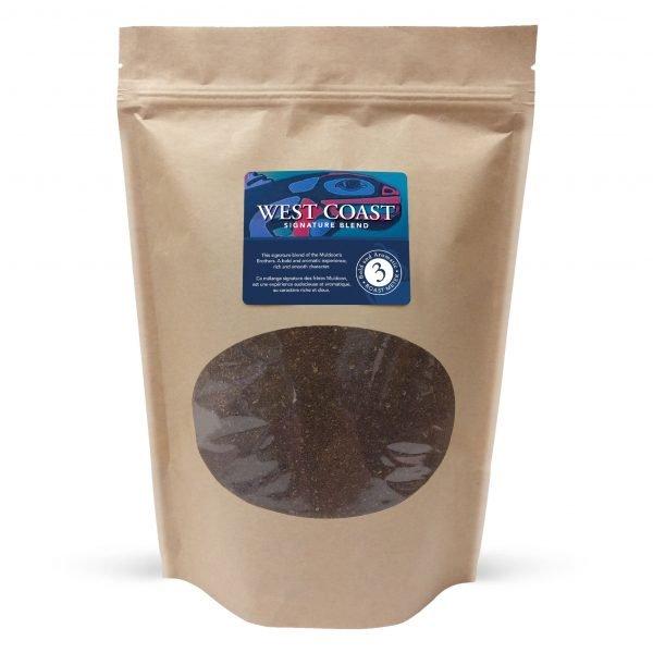 West coast blend ground coffee, 1lb 1