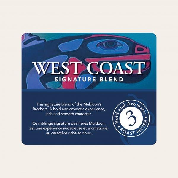 West coast blend ground coffee, 1lb 2